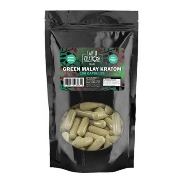 Earth Kratom Green Malay Capsules