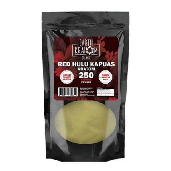 Earth Kratom Red Hulu Kapuas Capsules