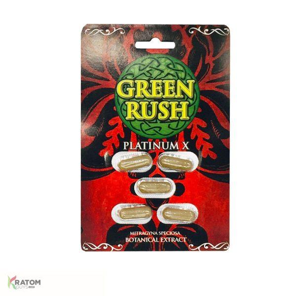 Green Rush Gold Kratom Botanical Extract Capsules