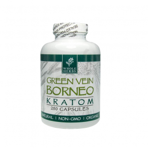 Whole Herbs Green Vein Borneo Capsules | Kratom Guys