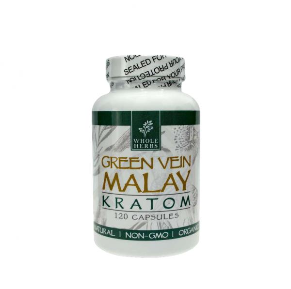 Whole Herbs Green Vein Malay Capsules | Kratom Guys