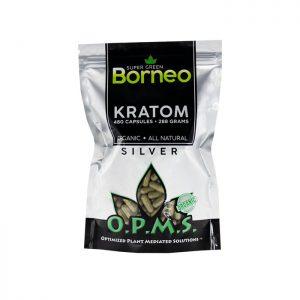 OPMS Silver Super Green Borneo Kratom Capsules