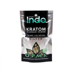 OPMS Silver White Vein Indo Capsules | Kratom Guys
