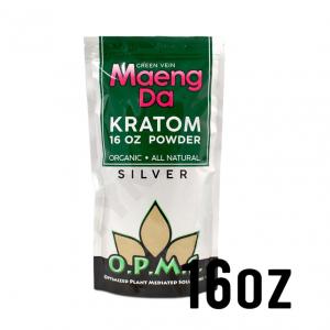OPMS Silver Green Vein Maeng Da Kratom Powder