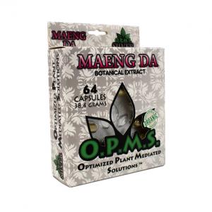 OPMS Silver Green Vein Maeng Da Blister Box Capsules | Kratom Guys