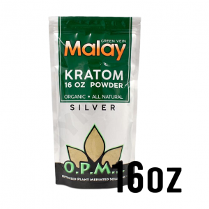OPMS Silver Green Vein Malay Kratom Powder