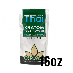 OPMS Silver Green Vein Thai Kratom Powder