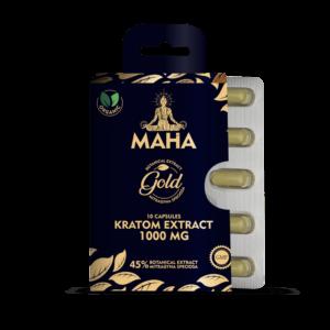 Maha Kratom Gold Extract Capsules